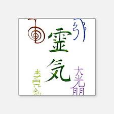 """Unique Reiki symbol Square Sticker 3"""" x 3"""""""