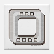 Bro Code Tile Coaster