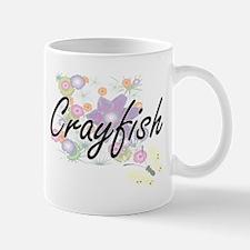 Crayfish artistic design with flowers Mugs
