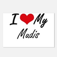 I Love my Mudis Postcards (Package of 8)