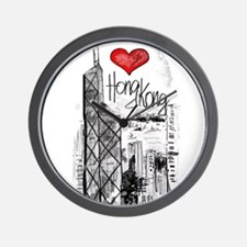I love Hong Kong Wall Clock