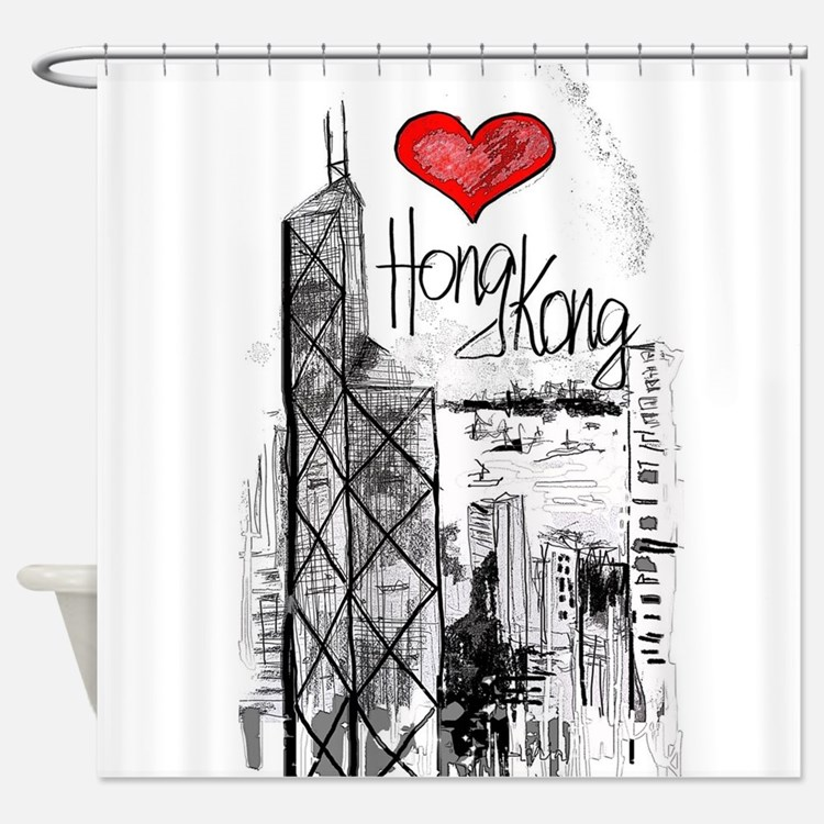 hong shower curtains hong fabric shower curtain liner. Black Bedroom Furniture Sets. Home Design Ideas