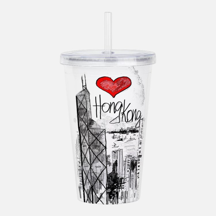 I love Hong Kong Acrylic Double-wall Tumbler