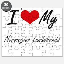 I Love my Norwegian Lundehunds Puzzle