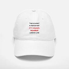 dedicated city council member Baseball Baseball Cap