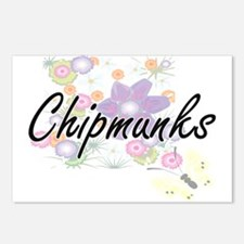 Chipmunks artistic design Postcards (Package of 8)