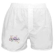 Chipmunks artistic design with flower Boxer Shorts