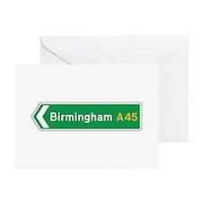 Birmingham Roadmarker, UK Greeting Cards (Pk of 1