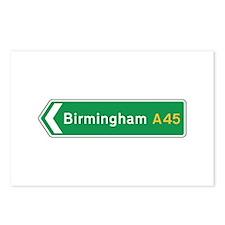 Birmingham Roadmarker, UK Postcards (Package of 8