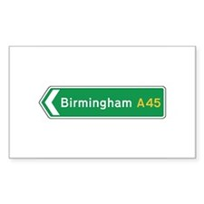 Birmingham Roadmarker, UK Rectangle Decal