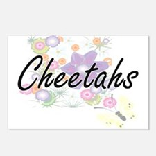 Cheetahs artistic design Postcards (Package of 8)