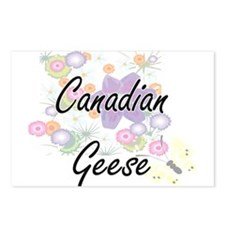 Canadian Geese artistic d Postcards (Package of 8)