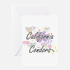 California Condors artistic design Greeting Cards