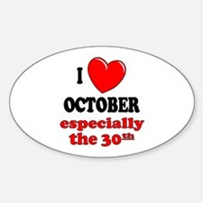 October 30th Oval Decal