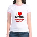 October 30th Jr. Ringer T-Shirt