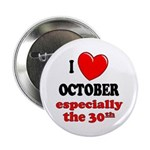 October 30th Button
