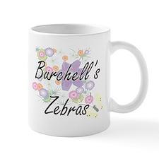Burchell's Zebras artistic design with flower Mugs