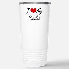 I Love my Poodles Travel Mug