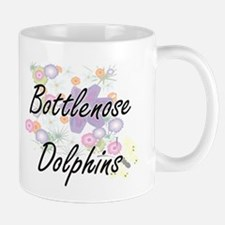 Bottlenose Dolphins artistic design with flow Mugs