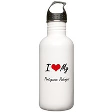 I Love my Portuguese P Sports Water Bottle