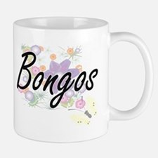 Bongos artistic design with flowers Mugs