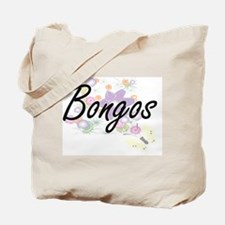 Bongos artistic design with flowers Tote Bag