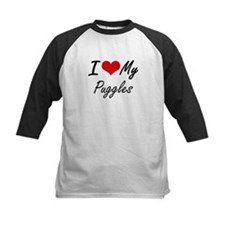 I Love my Puggles Baseball Jersey