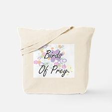 Birds Of Prey artistic design with flower Tote Bag