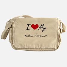 I Love my Redbone Coonhounds Messenger Bag
