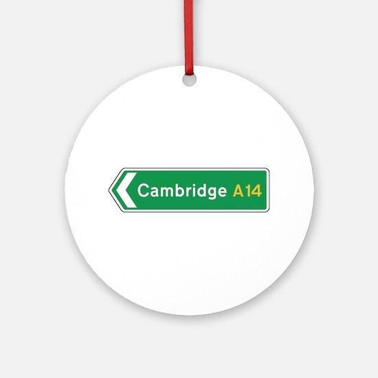 Cambridge Roadmarker, UK Ornament (Round)