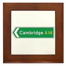 Cambridge Roadmarker, UK Framed Tile