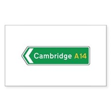 Cambridge Roadmarker, UK Rectangle Decal