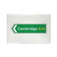 Cambridge Roadmarker, UK Rectangle Magnet