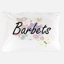 Barbets artistic design with flowers Pillow Case