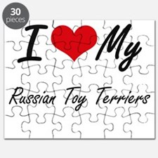 I Love my Russian Toy Terriers Puzzle