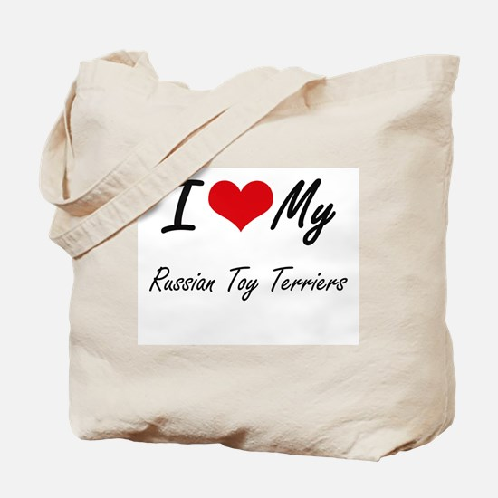 I Love my Russian Toy Terriers Tote Bag