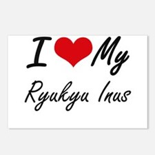 I Love my Ryukyu Inus Postcards (Package of 8)