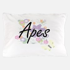 Apes artistic design with flowers Pillow Case
