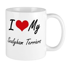 I Love my Sealyham Terriers Mugs