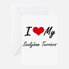 I Love my Sealyham Terriers Greeting Cards