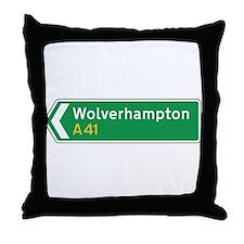 Wolverhampton Roadmarker, UK Throw Pillow