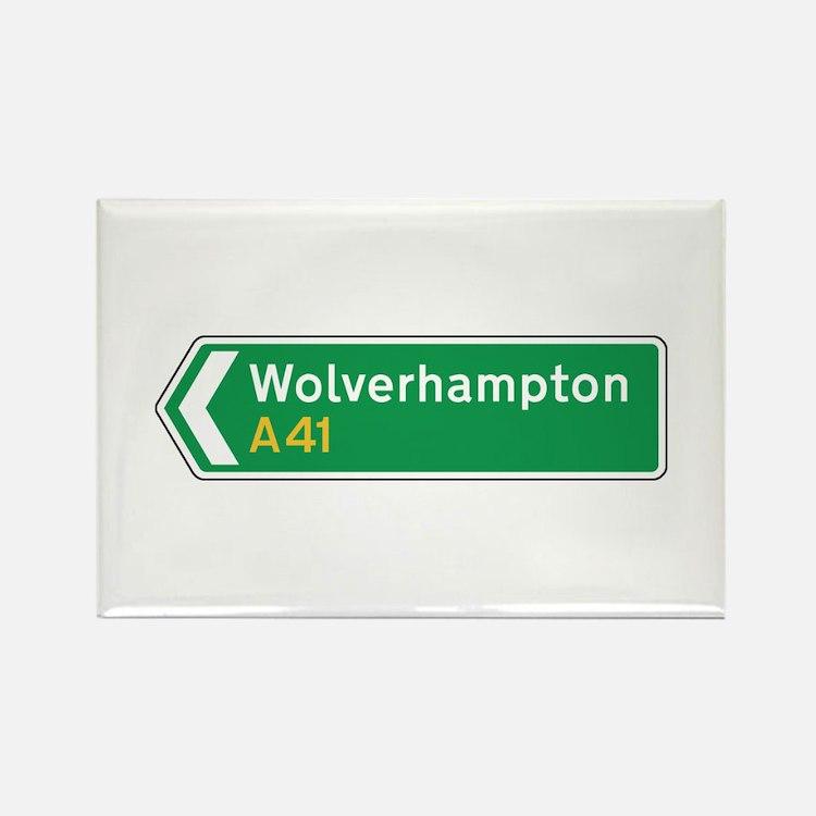 Wolverhampton Roadmarker, UK Rectangle Magnet