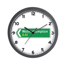 Wolverhampton Roadmarker, UK Wall Clock