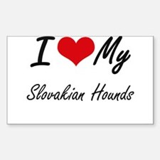 I Love my Slovakian Hounds Decal