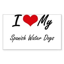 I Love my Spanish Water Dogs Decal