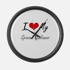 I Love my Spinone Italianos Large Wall Clock