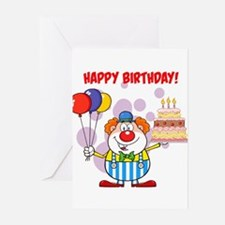 Birthday Clown Greeting Cards