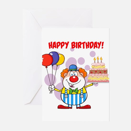 Clown Birthday Greeting Cards – Clown Birthday Cards