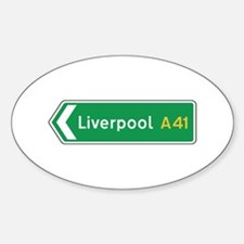 Liverpool Roadmarker, UK Oval Decal