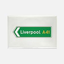 Liverpool Roadmarker, UK Rectangle Magnet
